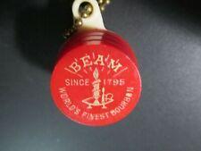JIM BEAN World's Finest Bourbon Barrel Keg Key Chain Spring Loaded Coin Holder