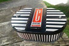 Ford cortina mk2 ,1600E  etc alloy k&n air filter top, black and red,brand new