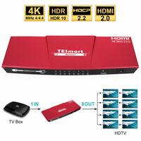 TESmart 4K@60Hz 1 in 8 out HDMI Splitter Repeater Amplifier HDCP2.2 Ultra HD 4K