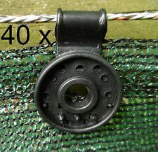 40 Clip Befestigungen  Schattiergewebe Sichtschutz Blende Zaun-blende Schutznetz