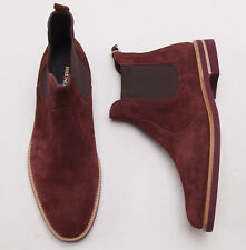 New $495 BRUNO MAGLI Bordeaux Suede Leather Ankle Boots US 11 D Shoes NIB