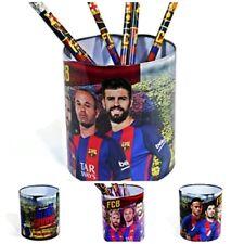 FC Barcelona Tin Desk Pen Pencil Organiser Cup Holder Office School & pencils
