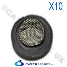 WATER BOILER DISH WASHER FILL SUPPLY HOSE RUBBER WASHER S/STEEL MESH FILTER X 10