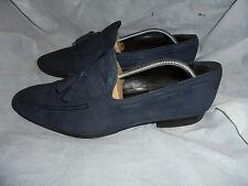 Danyberd Zapatos de Hombre Cuero Nobuck Azul Con Cordones Bota Talla UK 10 EU 44 en muy buena condición