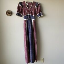 Vintage California Charmer Hollywoord Boho Peasant Maxi Prairie Dress