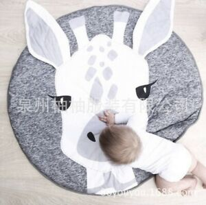 Soft Baby Kids Game Mat Gym Activity Play Cotton Crawling Blanket Floor Rug XL