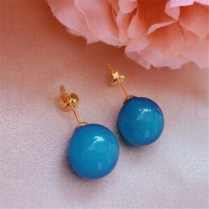 Elegant Natural jade gold Earrings Ping buckle 18KGP Gift Diy Easter Accessories