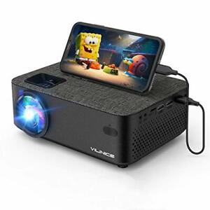 Wifi and Bluetooth Mini Projector with Screen Mirroring, Supports 1080P Full HD