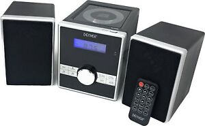 CD Player Hi-Fi Music Micro System Denver MCA-230 FM Radio Remote Control Clock