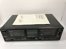 Sony TC-W530 Dolby Cassette/Tape Double Deck Player Recorder.
