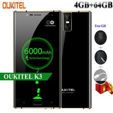 4GB +64GB OUKITEL K3/K6000 Plus Mobile Phone FHD Android 7.0 Fingerprint 6080mAh