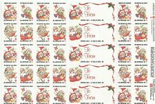 """American Lung Association 1987, """"80th Anniversary"""" Christmas Seals 30 Seals"""