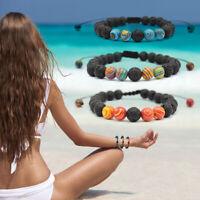 Adjustable Lava Bracelet Essential Oil Anxiety Diffuser Aromatherapy Bracelet HL