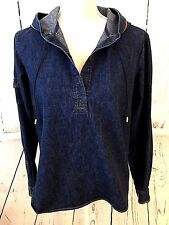 New TOMMY HILFIGER Girls 12 Blue Jean Hoodie Jacket Denim...
