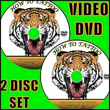 TATTOO CREATION TUTORIAL STEP BY STEP GUIDE THEORY PRACTICAL ART 2 VIDEO DVD SET