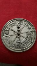 Neiman Marcus silver metal investment decision maker spinner paperweight used