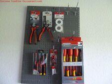 Werkstattwand Set 3 Lochwände Hakensatz 14 Teile +Elektro Schraubendreher