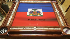 Haitian Flag Personalized Domino Tables by Art