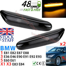 BMW LED SMD SMOKE Turn Repeater TINTED BLACK Side Indicator Flasher LUXFACTORY