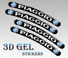 4 PIAGGIO FELGENRANDAUFKLEBER 3D GEL AUFKLEBER AUTO MOTORRAD RIM STICKERS R49