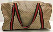 authentiv vintage Gucci gg micro monogram PVC boston keepall 45 hand tote bag