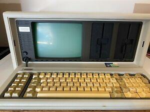 Vintage COMPAQ Portable Desktop Computer Powers On