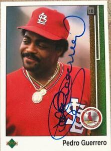 Pedro Guerrero Autographed 1989 Upper Deck #306