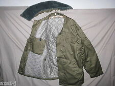 Größe 58 = XXL  NVA Winter Watte FDA Felddienst Jacke Strichtarn mit  Pelzkragen