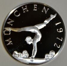 MUNICH 1972 OLGA KORBUT - HISTORY OF THE OLYMPIC GAMES .925 SILVER  - RARE