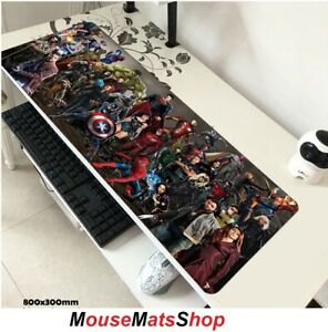 SuperHeroes Extra Large Gaming Mouse Mat Pad Non-Slip f PC Office Laptop 80x30cm