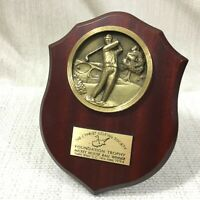 Vintage Golf Trophy Shield Medallion Mickey Mouse Cypriot Golfing Memorabilia