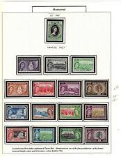 MONTSERRAT _ SCOTT #s 128-42 (15 MNH)  & #127 M NH      1953