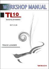 Takeuchi TL10 Track Loader Service Workshop Manual CD - TL 10