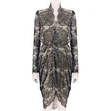 Alexander McQueen Luxurious Nude Black Lace Dress IT38 UK6