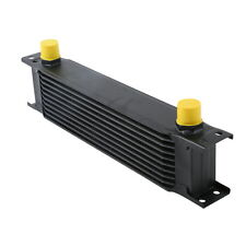 BLACK UNIVERSAL 10ROW AN-10AN ENGINE TRANSMISSION RACING OIL COOLER BRITISH TYPE