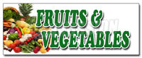 FRUITS & VEGETABLES DECAL sticker local locally grown organic just picked