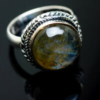 Labradorite 925 Sterling Silver Ring Size 7.25 Ana Co Jewelry R995520F