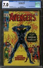 Avengers #87 CGC 7.0 (OW-W) Origin of Black Panther