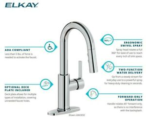 Elkay LKAV3032 Avado 1.8 GPM 1 Hole Pull Down Bar Faucet - - Chrome