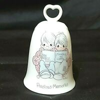 "Vintage Bell Precious Moments Mem of Our Wedding Porcelain 4-1/2"" 1985 Preowned"