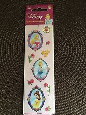 Sandylion Sticker, DISNEY PRINCESS Belle, Cinderella, Aurora, scratch sniff 1sht