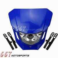 Blue Dirt Bike Motocross Headlight Lamp Fairing For Yamaha TTR250 TTR230 WR250F
