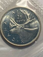 1966 CANADA 25 CENTS  SILVER QUARTER COIN PROOF LIKE SEALED
