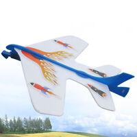 LED Light Flashing Slingshot Catapult Airplane Launcher Glider Plane Kid Toy