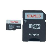 Staples 32GB High Speed Micro SDHC Card Class 10 with SD Adapter 1668535