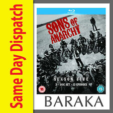SONS OF ANARCHY COMPLETE SEASON SERIES 5 Blu ray RB Fifth Five box set not a DVD