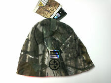 Pittsburgh Steelers Hat Reversible Camoflage/Orange Beanie Hat