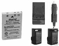 Battery + Charger for Nikon Coolpix P6000 P-6000 P100