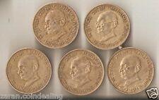 20 Paisa Mahatma Gandhi Coin 1869 -1948 = Quantity 5