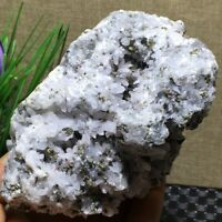 NATURAL Calcite Grow with chalcopyrite Crystal Cluster Specimen 632g  a994